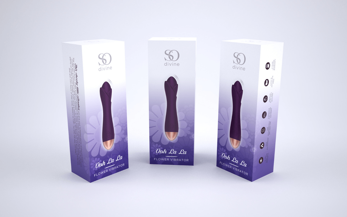 So Divine Purple Flower Vibrator